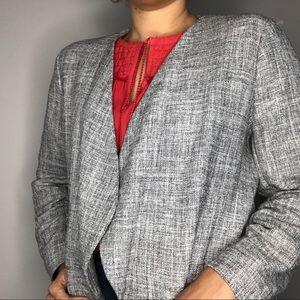 {H&M} Tweed Gray Metallic Blazer